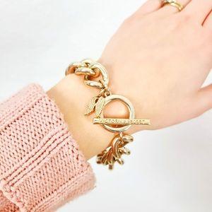 Victoria's Secret Gold Chain Link Charm Bracelet